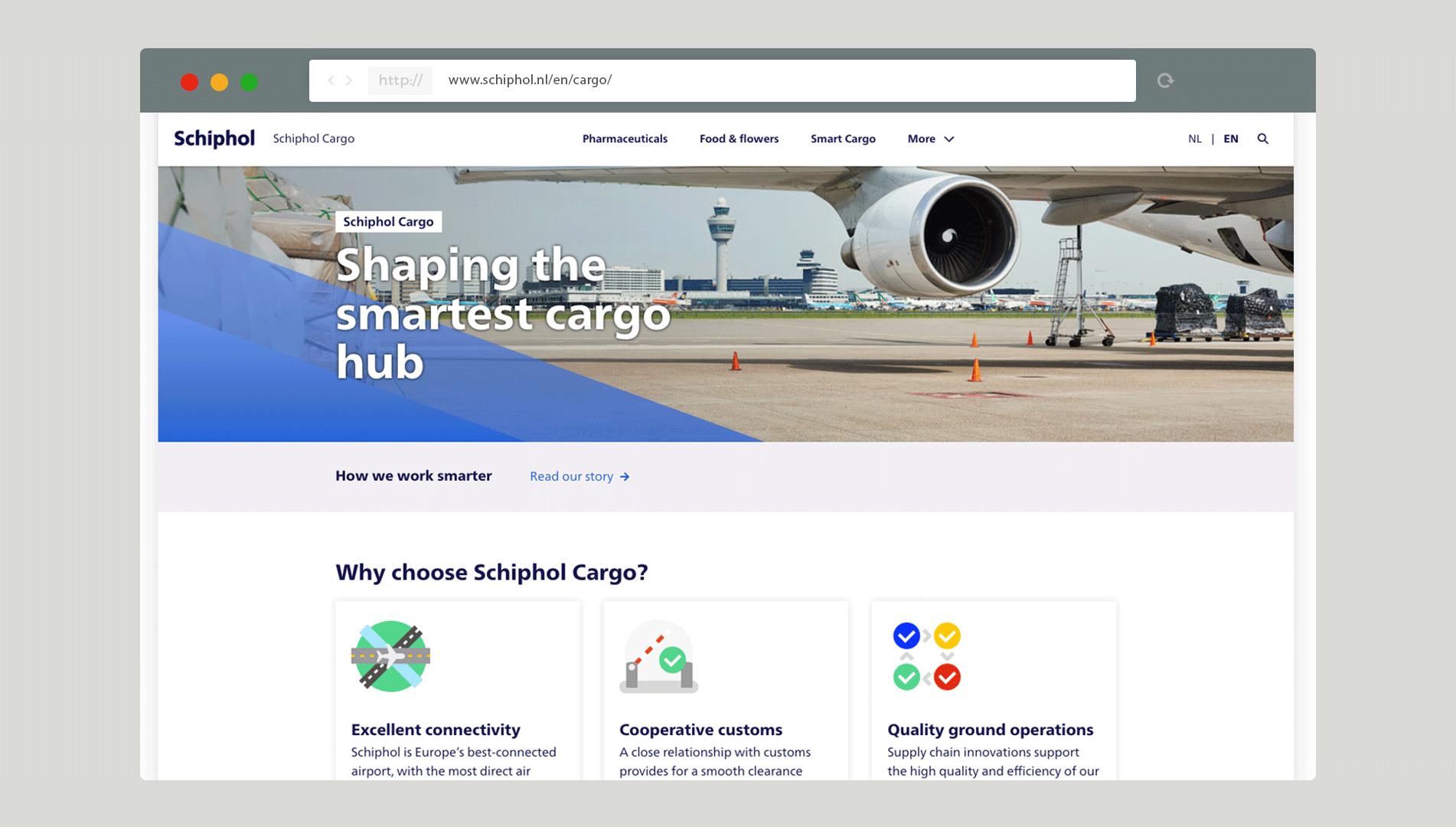 Schipholwebsite